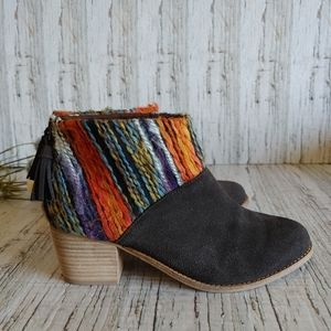 TOMS | Boho Leila Booties Chocolate Suede Size 8.5